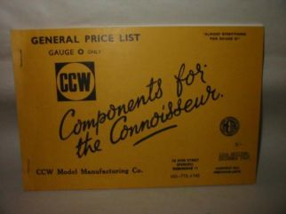 CCW Model Manufacturing Co. Catalogue 1969